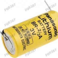 Baterie 2/3A, 2/3R23, litiu, 3V, 1200mAh, Panasonic, cu terminale - 050426