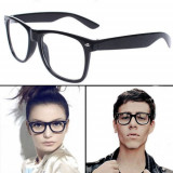 Ochelari Wayfarer Lentile Transparente, ClubMaster, Unisex