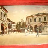 Ilustrata color Bucuresti -Piata Sf. Gheorghe, inc.sec.XX, Ed. Horowitz - Carte Postala Muntenia 1904-1918