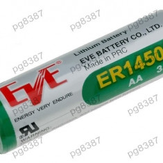 Baterie AA, R6, ER14505, litiu, 3,6V, 2400mAh, Eve Battery Co - 050437