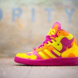 Adidas Jeremy Scott Instinct HI Neon Camo - Mar 43 1/3 - Import SUA ORIGINALI - Adidasi barbati, Culoare: Orange, Piele naturala