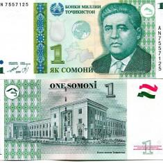 Tajikistan 1 somoni 1999 - UNC