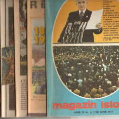 (C5099) MAGAZIN ISTORIC ANULXI, 1977, NR. 1-12, AN COMPLET, 12 NUMERE