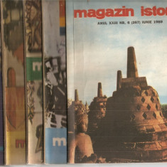 (C5100) MAGAZIN ISTORIC ANUL XXIII, 1989, NR. 1-12, AN COMPLET, 12 NUMERE