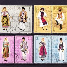 Timbre ROMANIA 1985/ LP.1138 = COSTUME POPULARE ROMANESTI, SERIE COMPLETA