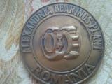 Medalie Alexandria Bearings Plant Romania,82 grame+ taxele postale = 90 roni