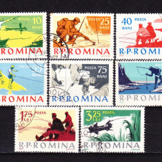 Timbre ROMANIA 1962/LP.544 = PESCUITUL SPORTIV, SERIE COMPLETA