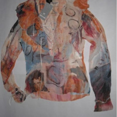 Bluza bluzita dama femei - ROBERTO CAVALLI 100% autentica - Bluza dama ROBERTO CAVALLI CLASS, Marime: 42, Culoare: Din imagine, Maneca lunga