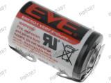 Baterie ER14250, 1/2AA, 1/2R6, litiu, 3,6V, 1100mAh, Ever Battery Co, cu terminale - 050434