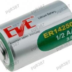 Baterie ER14250, 1/2AA, 1/2R6, litiu, 3, 6V, 1100mAh, Ever Battery Co - 050435