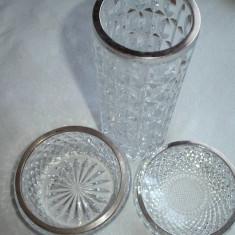 Lot cristal cu argint Emil Hermann