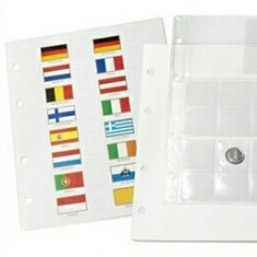 SET( 5 buc ) FOLIE NUMIS EURO- 24 monede- 3 set EURO, 193 x 224 mm Leuchtturm