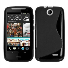HUSA hTC DESIRE 310 silicon neagra transparenta s line tpu gel + folie ecran - Husa Telefon HTC, Negru