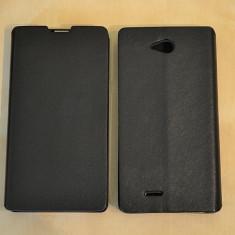 Husa Philips W3500 Flip Case Slim Black - Husa Telefon Philips, Negru, Piele Ecologica, Cu clapeta, Toc
