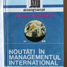 NOUTATI IN MANAGEMENTUL INTERNATIONAL. Management comparat - O. Nicolescu, 1993