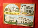 Ilustrata - Scornicesti - cu 4 imagini ,cu marca fixa , 1979