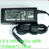 Alimentator Original Laptop Delta Electronics 19V 3.42A Incarcator Retea Genuine Notebook Power Adapter