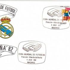 SPANIA 1982, FDC, C.M. de Fotbal - Spania, Franta - Irlanda de Nord