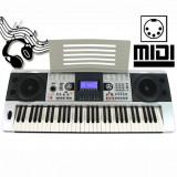 ORGA PROFESIONALA CU 61 TASTE SI MIDI, INTARE DE STICK USB, AFISAJ LCD, ORGA CU 5 OCTAVE+BONUS SUPORT PARTITURA.SIGILATA.