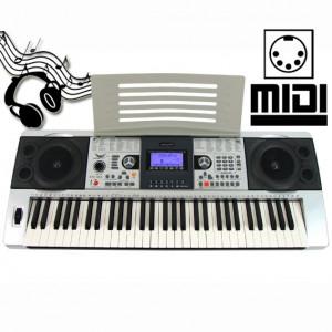 ORGA PROFESIONALA 61 TASTE, MIDI,INTARE USB,AFISAJ,5 OCTAVE+SUPORT PARTITURA.NOU