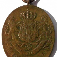 ROMANIA Medalie Decoratie Jubiliara Carol I 1866 - 1906 var pt civili, bronz ** - Medalii Romania