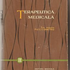 (C5112) TERAPEUTICA MEDICALA DE PROF. C.C. DIMITRIU, VOL II, EDITURA MEDICALA, 1961 - Carte Diagnostic si tratament