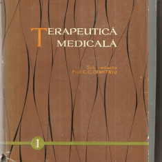 (C5111) TERAPEUTICA MEDICALA DE PROF. C.C. DIMITRIU, VOL I, EDITURA MEDICALA, 1961
