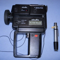 CAMERA DE FILMAT MINOLTA XL-440 SOUND CU MICROFON - Camera Video, 2-3 inch