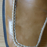Pantofi de gala Caruso Moda Uomo din piele naturala, cusuti manual; marime 43