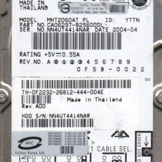 "FUJITSU HDD 2.5"" IDE 60GB Laptop MHT2060AT 4200 RPM,6.35 cm, 41-80 GB"