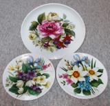 Set farfurii - decorative / de colectie - portelan Bavaria - Kaiser - 1983