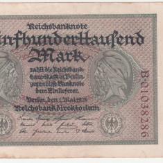 (1) BANCNOTA GERMANIA - 500.000 MARK 1923 (1 MAI 1923), MAI RARA