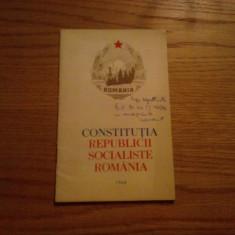 CONSTITUTIA REPUBLICII SOCIALISTE ROMANIA   - 1968