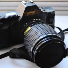 Canon T70 cu obiectiv Tokina SD 35-200mm - Aparat Foto cu Film Canon
