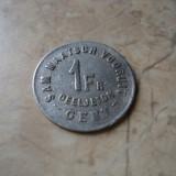 1 franc 1880 Belgia, token