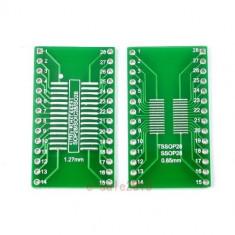 Adaptor SMD to DIP TSSOP28 SSOP28 MSOP28 SOP28 TURN DIP28
