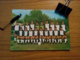C.F. SPORTUL STUDENTESC * Campionatul 1984-1985 -- Foto Color, dim 20cm * 14 cm-- din echipa: Gh. Hagi, Mircea Sandu. Gino Iorgulescu