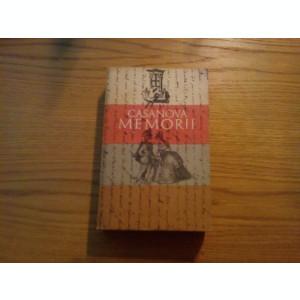 GIACOMO  GIROLAMO CASANOVA   --  Memorii * Pagini alese  --  1970, 652 p.
