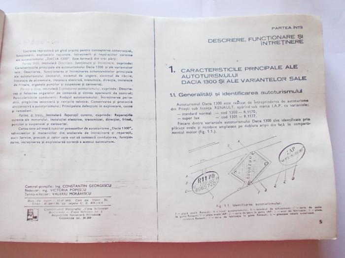 MANUAL TEHNIC AUTO , AUTOTURISMUL DACIA 1300 . ANUL 1975 -  A. BREBENEL ¸ C. MONDIRU ¸ I. FARCASU
