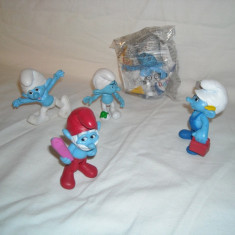 Strumfi, smurfs - 5 figurine mari strumf din cauciuc - set 7 - Figurina Desene animate