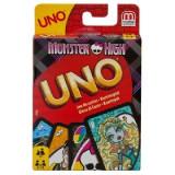 Cartile de joc UNO cu tematica Monster High. NOIII, Hasbro