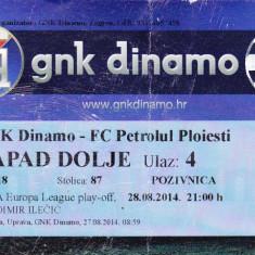 Bilet meci fotbal GNK DINAMO ZAGREB - PETROLUL PLOIESTI 28.08.2014 Europa League