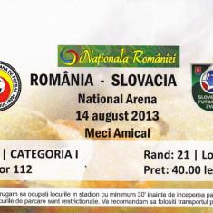 Bilet meci fotbal ROMANIA - SLOVACIA 14.08.2013