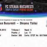 Bilet meci fotbal STEAUA Bucuresti - DINAMO Tbilisi 06.08.2013