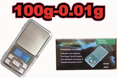 Cantar Electronic Digital Precizie Pentru Bijuterii 100g/0.01g foto