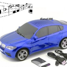 Boxa MP3 player si radio masina BMW X6 Varianta pe Albastru