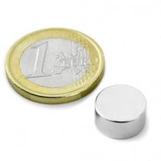 Magnet neodim disc, diametru 12 mm, putere 3,9 kg
