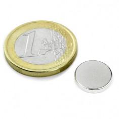Magnet neodim disc, diametru 12 mm, putere 1.6 kg