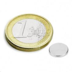 Magnet neodim disc, diametru 8 mm, putere 410 g