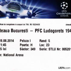Bilet meci fotbal STEAUA Bucuresti - PFC LUDOGORETS 1945 19.08.2014